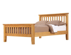 Acorn Solid Oak Bed High Footend Double