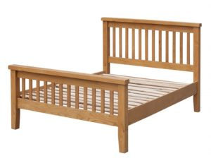 Acorn Solid Oak Bed High Footend King Size