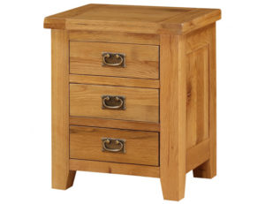 Acorn Solid Oak Bedside Table 3 Drawer