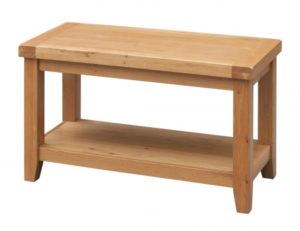 Acorn Solid Oak Coffee Table with Shelf