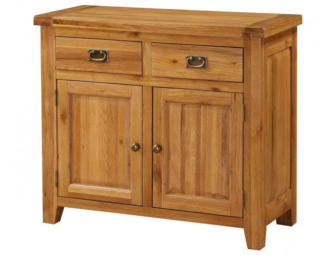 Acorn Solid Oak Sideboard Small 2 Doors & 2 Drawers