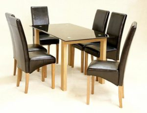 Adina Black Dining Table Large