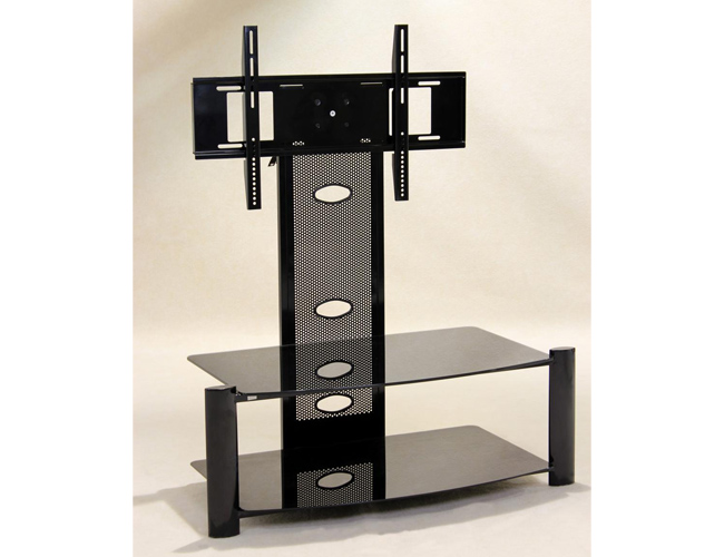 Alpine Flat Screen TV Stand Black (Baron)