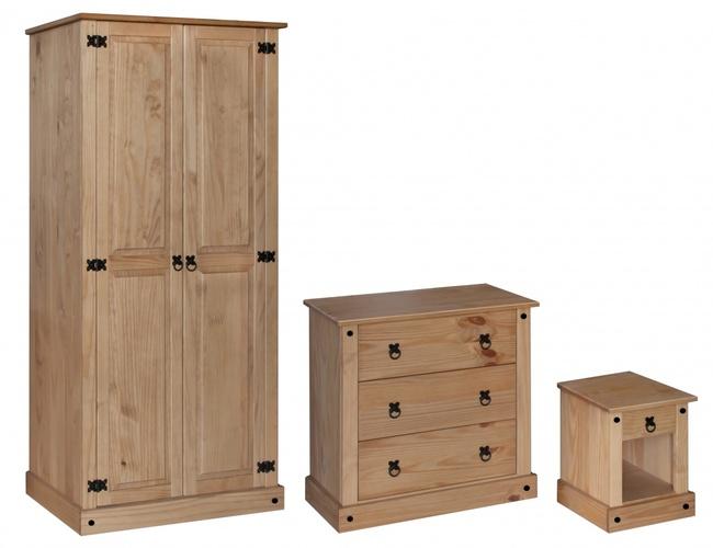 Amazon Trio Wardrobe, Chest & Bedside