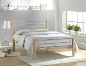 Amber Bed Single Silver-Beech
