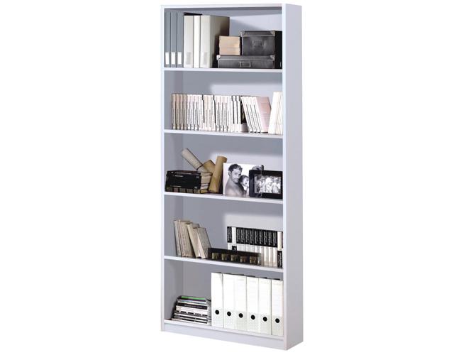 Arctic Book Shelf 5 Shelves High Shine White