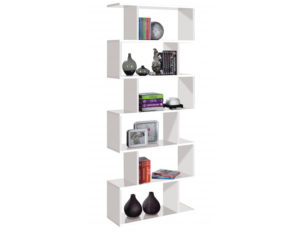 Arctic Bookcase Tall High Shine White