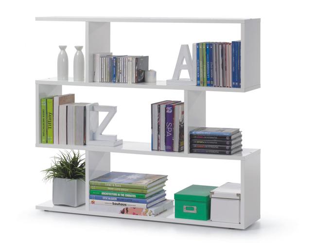 Arctic Bookcase Wide High Shine White