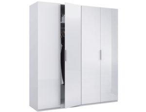 Arctic Wardrobe 4 Door High Shine White