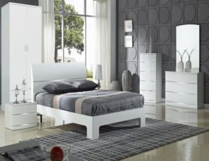 Arden/Widney White High Gloss Bedside