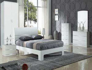 Arden/Widney White High Gloss Dresser 3 Drawers