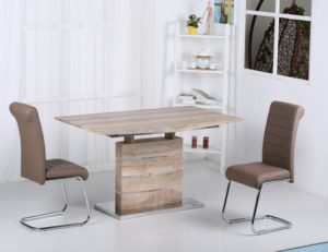 Astra PU Chairs Chrome & Brown