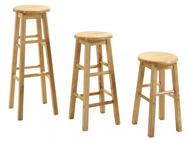 Bar Stool 24 Non Swivel (Sold in Pairs)
