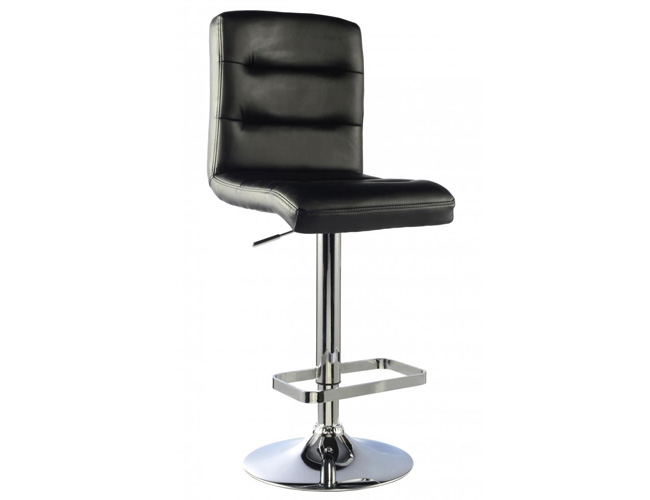Bowden Bar Stool PU Chrome & Black (2s)