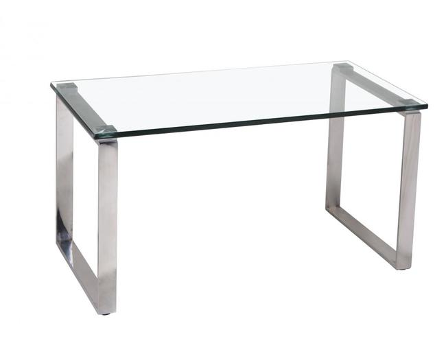 Carter Glass Coffee Table with Stainless Steel Legs