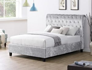 Casablanca LFE Crushed Velvet Double Bed Grey