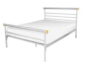 Celine Bed Double Silver