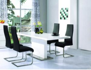 Chaffee Dining Table White High Gloss