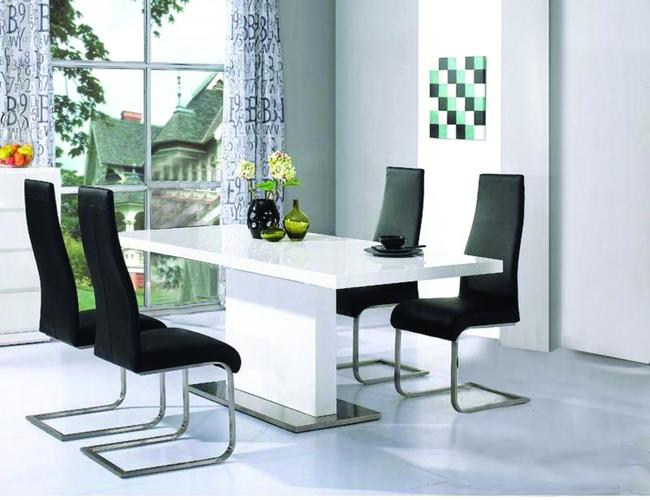 Chaffee PU Dining Chair Chrome