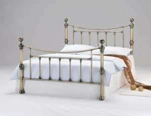 Charlotte Antique Brass Double Bed