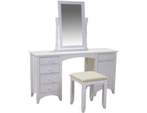 Chelsea White Dressing Table Stool