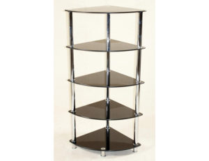 Cologne Black Corner Unit 5 Shelves