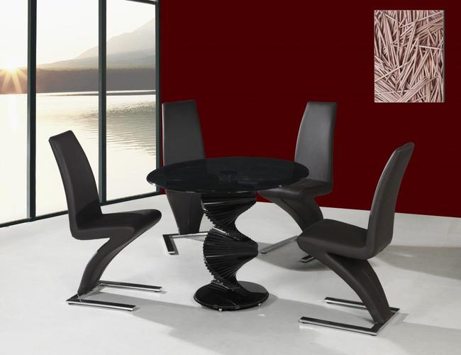 Cordoba Black Dining Table 4 Ankara Chairs