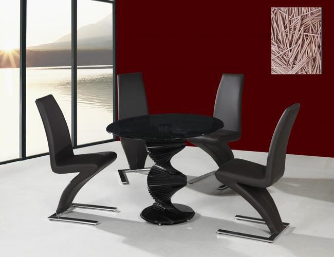 Cordoba Black Dining Table 4 Ankara Chairs
