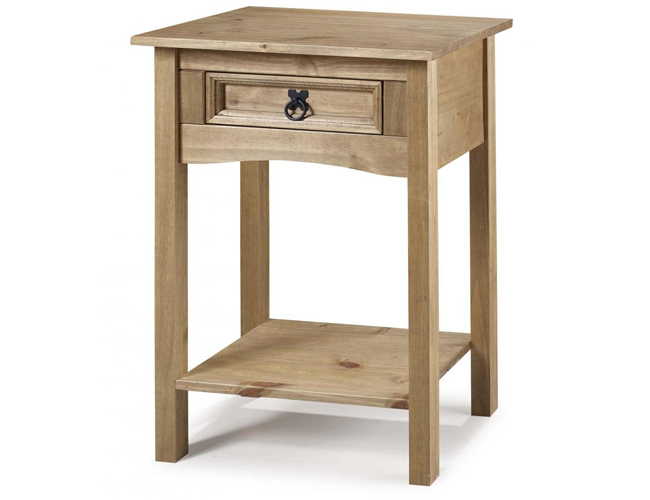 Corona Console Table 1 Drawer with Shelf