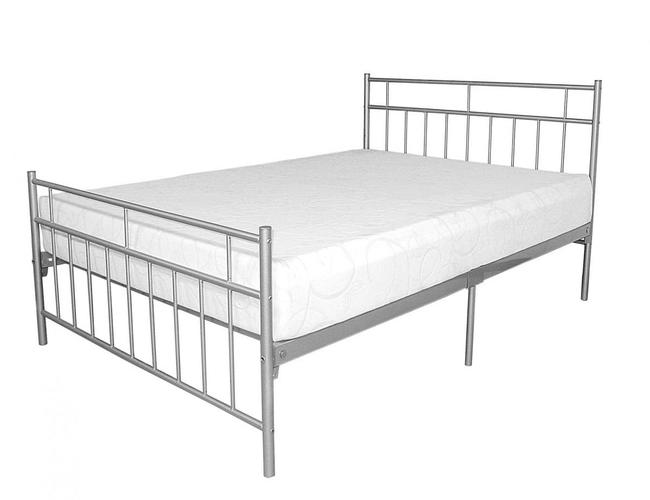 Davina Metal Bed Double Silver