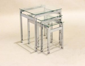 Epsom Nest of Tables Chrome/Glass JOA261