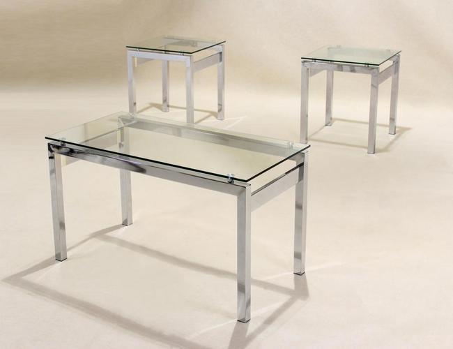 Epsom Occasional Set Chrome/Glass JOA260