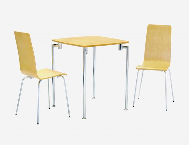 Fiji Small Dining Set with 2 Chairs Beech