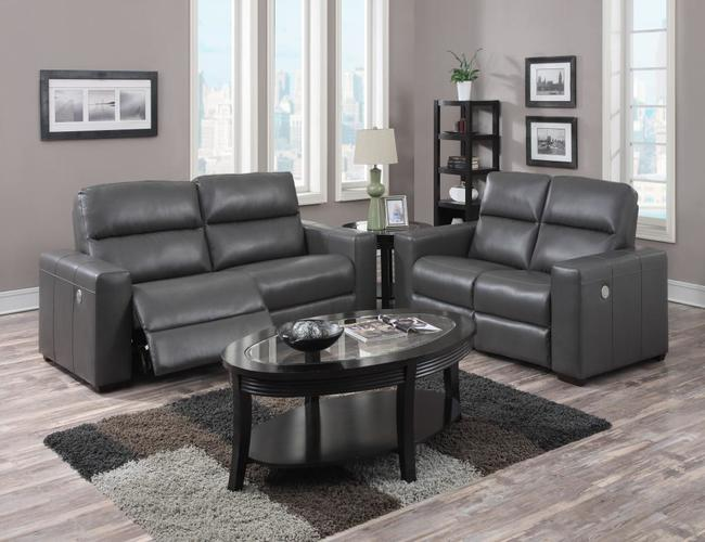 Fiore Power Recliner Bonded Leather & PU 3 Seater