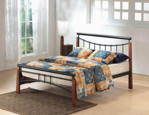 Franklin Bed Single Black/Dark Oak