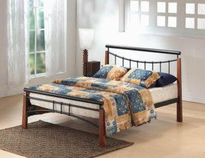 Franklin Bed Single Black/Dark Oak
