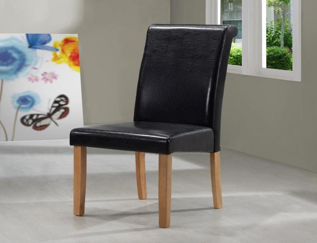 Marley PU Solid Rubberwood Chair