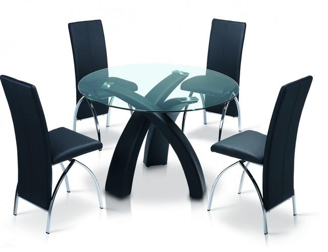 Marston PU Chair Chrome & Black
