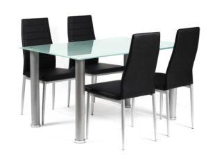 Tatum PU Chairs Black & Silver