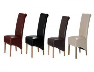 Trafalgar PU Chair Rubberwood Leg