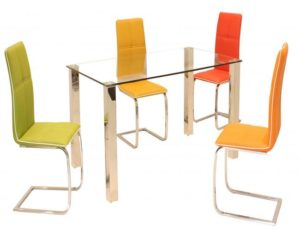 Valita PU Chairs Chrome