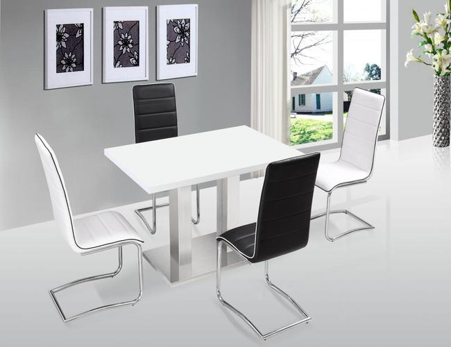 Walton PU Dining Chair Chrome
