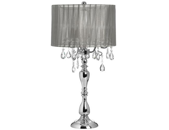 Nice Crystal Drop Chandelier Table Lamp